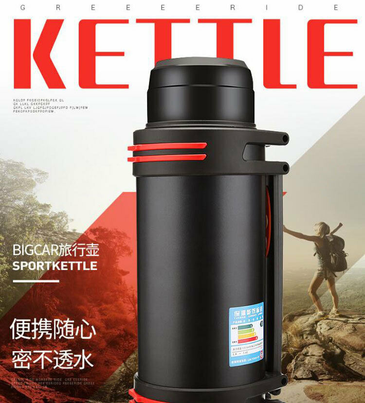 3.6L Stainless Steel Outdoor Thermos Travel Insulated Mug Potable Vacuum Cup