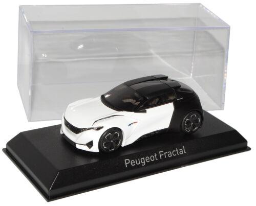 Peugeot Fractal Coupe Weiss Schwarz Concept Frankfurt IAA 2015 1//43 Norev Modell