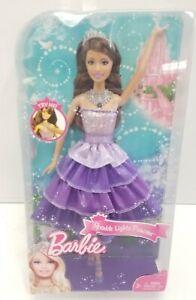 Barbie-Sparkle-Lights-Princess-Purple-Doll-Dress-12-034-New-Box-Collectible-Mattel