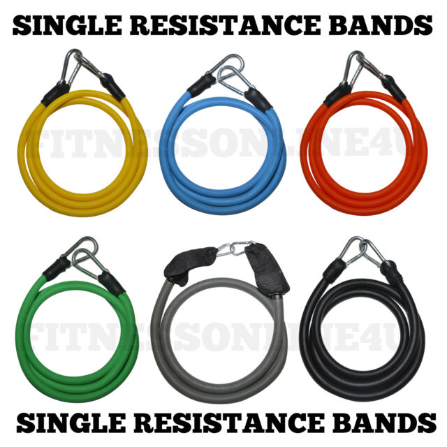 Single Resistance Bands Workout Exercise Yoga Crossfit Fitness Tubes Physio