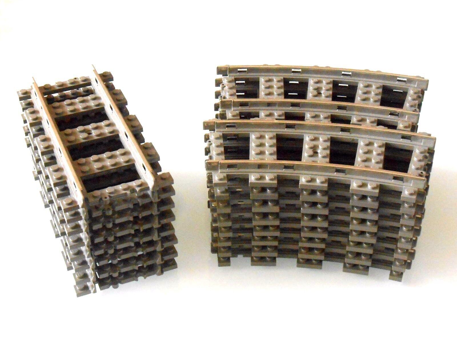 24x lego rails 9 V, Plié-courbes et droites