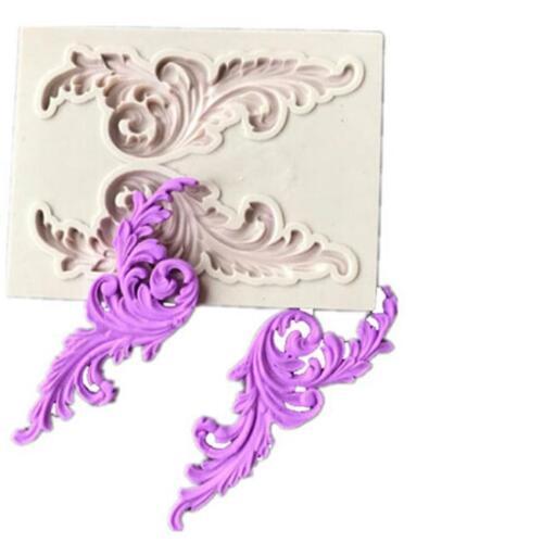 Cake Border Decoration Sugar Mould 3D Relief Flower Silicone Fondant Mold QK