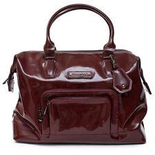 LONGCHAMP Legende Burgundy Red Bag Patent Leather Handbag Purse  NEW
