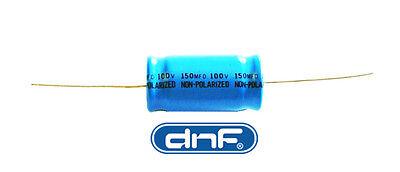 SHIPS TODAY! 10 PACK 150 MFD Axial Electrolytic Non-Polar Capacitor 100 VOLT