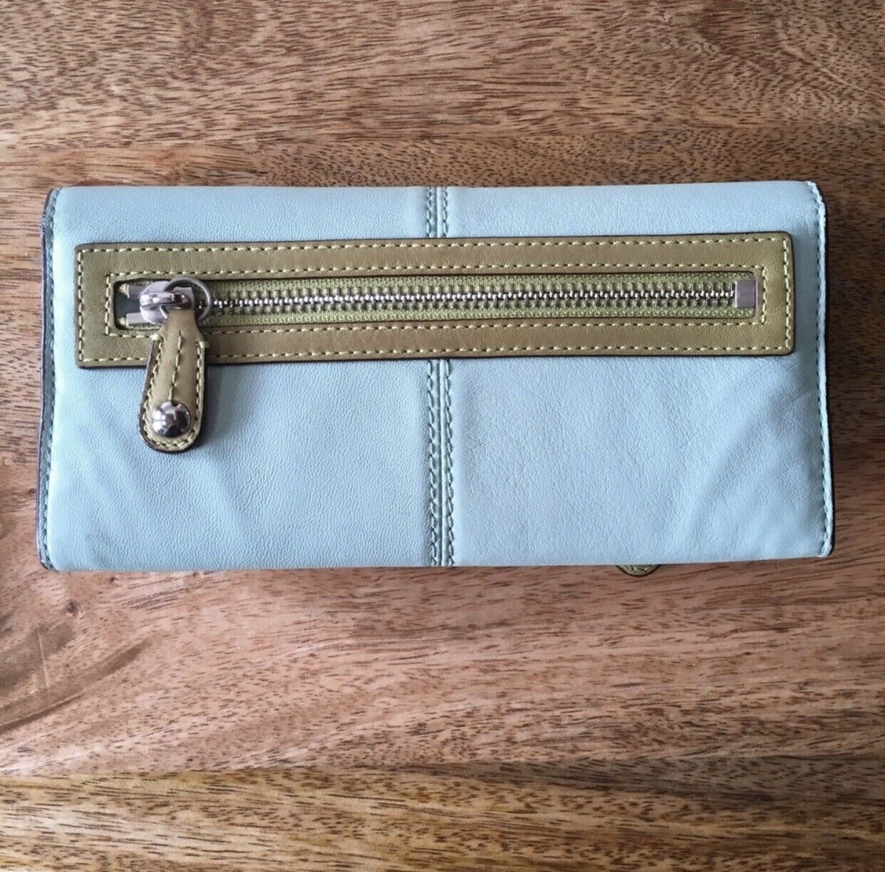 Coach Blue And Green Bonnie Bifold Wallet - image 2
