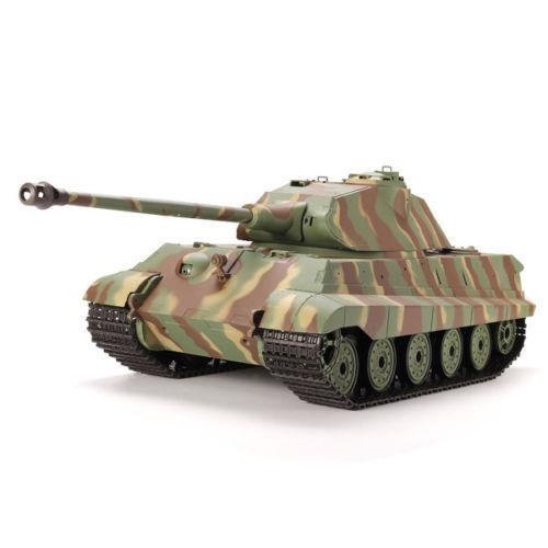 Heng Long 1/16 2.4 Alemán tanque RC King Tiger batalla simulación de fumar y sonido