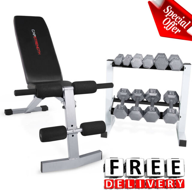 Weight sets 150lbs w rack bench dumbells home gym fitness equipment