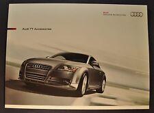 2010 Audi TT Accessories Catalog Brochure Coupe Roadster Excellent Original 10