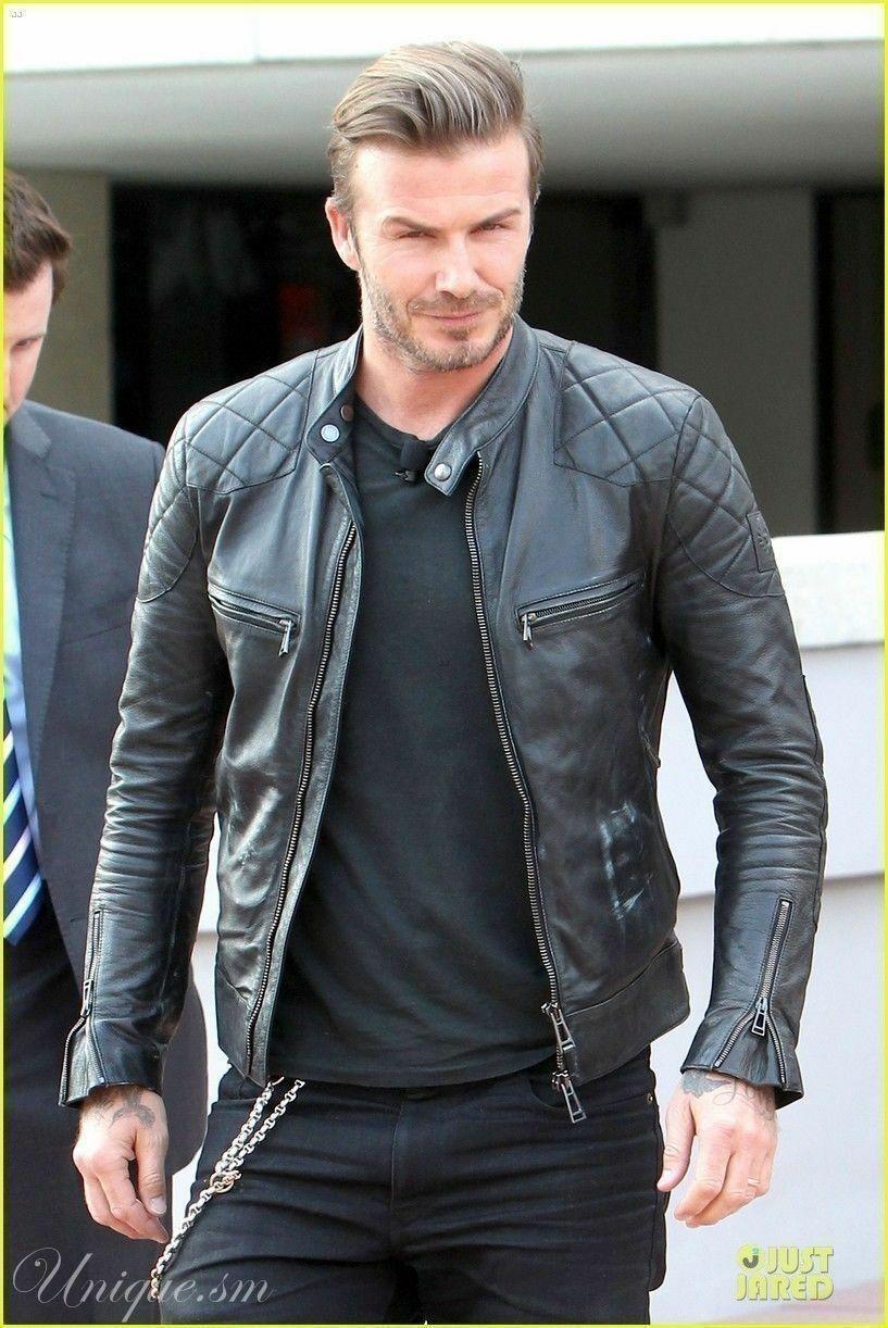 Mens Leather Jacket Coat Men Slim Mens Outwear Black Bi