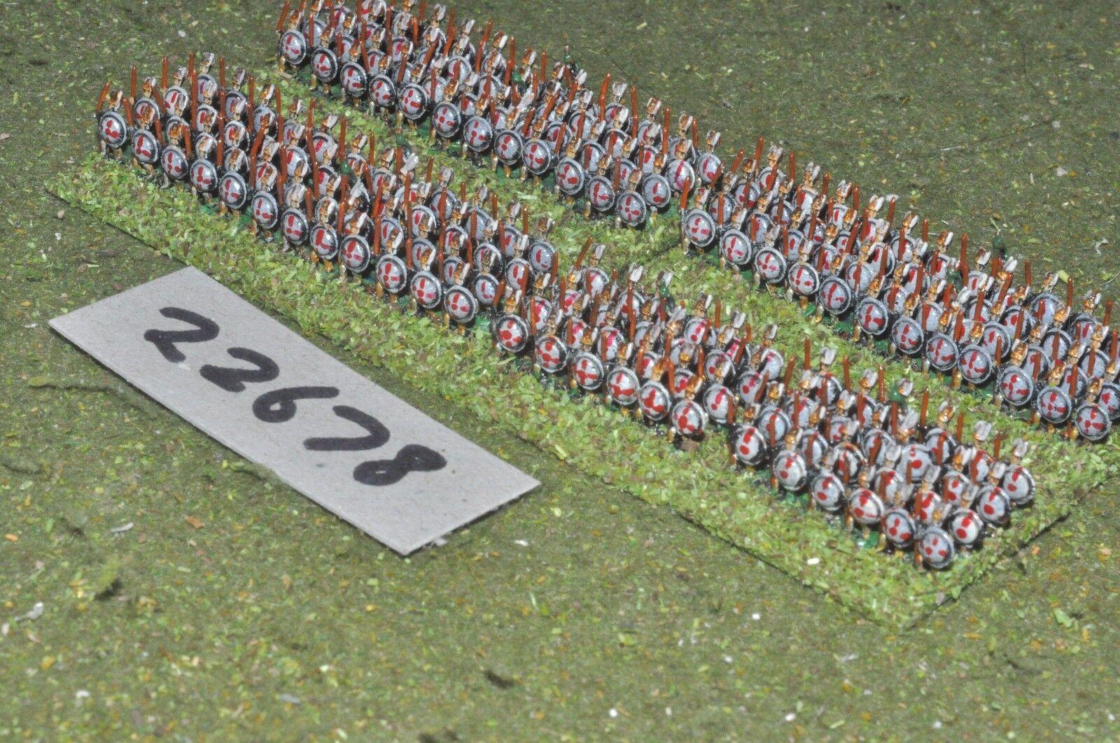 6mm Roman Era   italian - hoplites 190 figures - inf (22678)