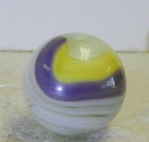 #12970m Vintage Akro Agate Purple Popeye Marble .62 Inches