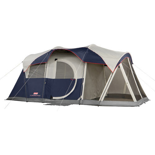 Coleman Elite WeatherMaster 17' x 9' Tent with LED Light, Sleeps 6