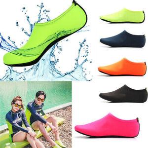 Men-Women-Non-Slip-Yoga-Solid-Aqua-Socks-Water-Athletic-Shoes-Swim-Pool-on-Surf