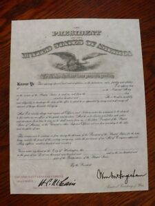 WWI-U-S-Army-Officer-039-s-Commission-Personalized-Document