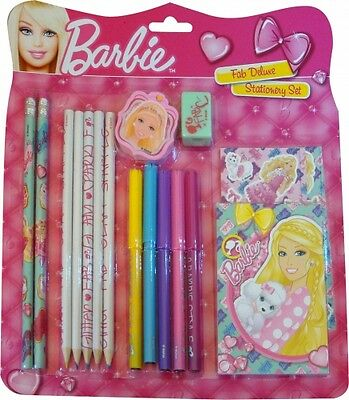 Barbie Deluxe Stationery Set with Pencils and Lots of Other Stationary