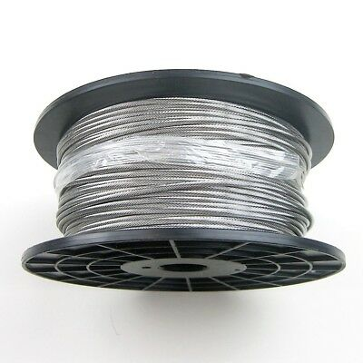 50 ft Coil 5//32 1x19 316 Stainless Steel Marine Grade Cable for Cable Railing