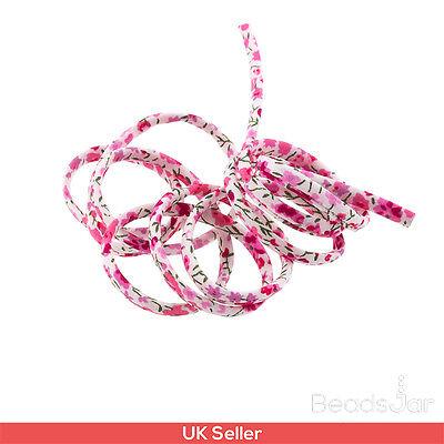 Liberty of London Pink Print 4mm Ribbon Cord Michael D K40//2