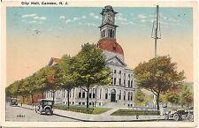 City Hall in Camden NJ Postcard 1922