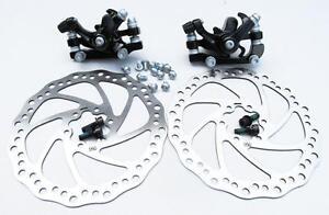 Mechanical Disc Brake MTB Bike Cycling Bicycle Front&Rear Caliper 160mm Rotors