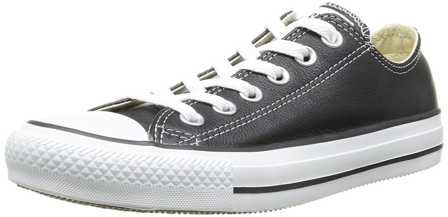 Converse Chuck Taylor Unisex All Star Black White Lo Unisex Taylor Leather Trainers e10f00