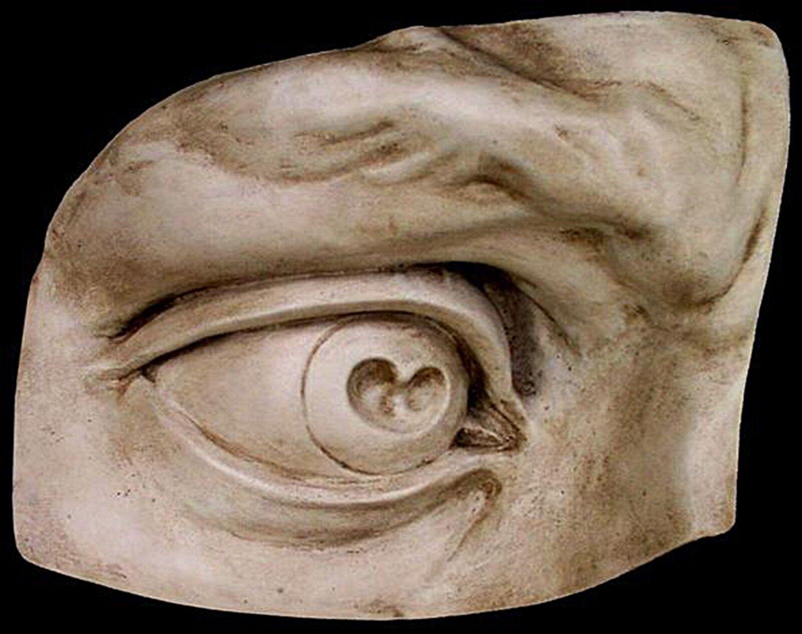 Enorme David's Eye escultura Miguel Ángel fragmento Placa de parojo dos veces el tamaño