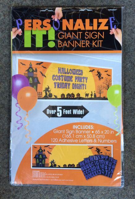 Halloween Kindergeburtstag.Amscan Halloween Kindergeburtstag Party Deko Personalisierbarer Banner
