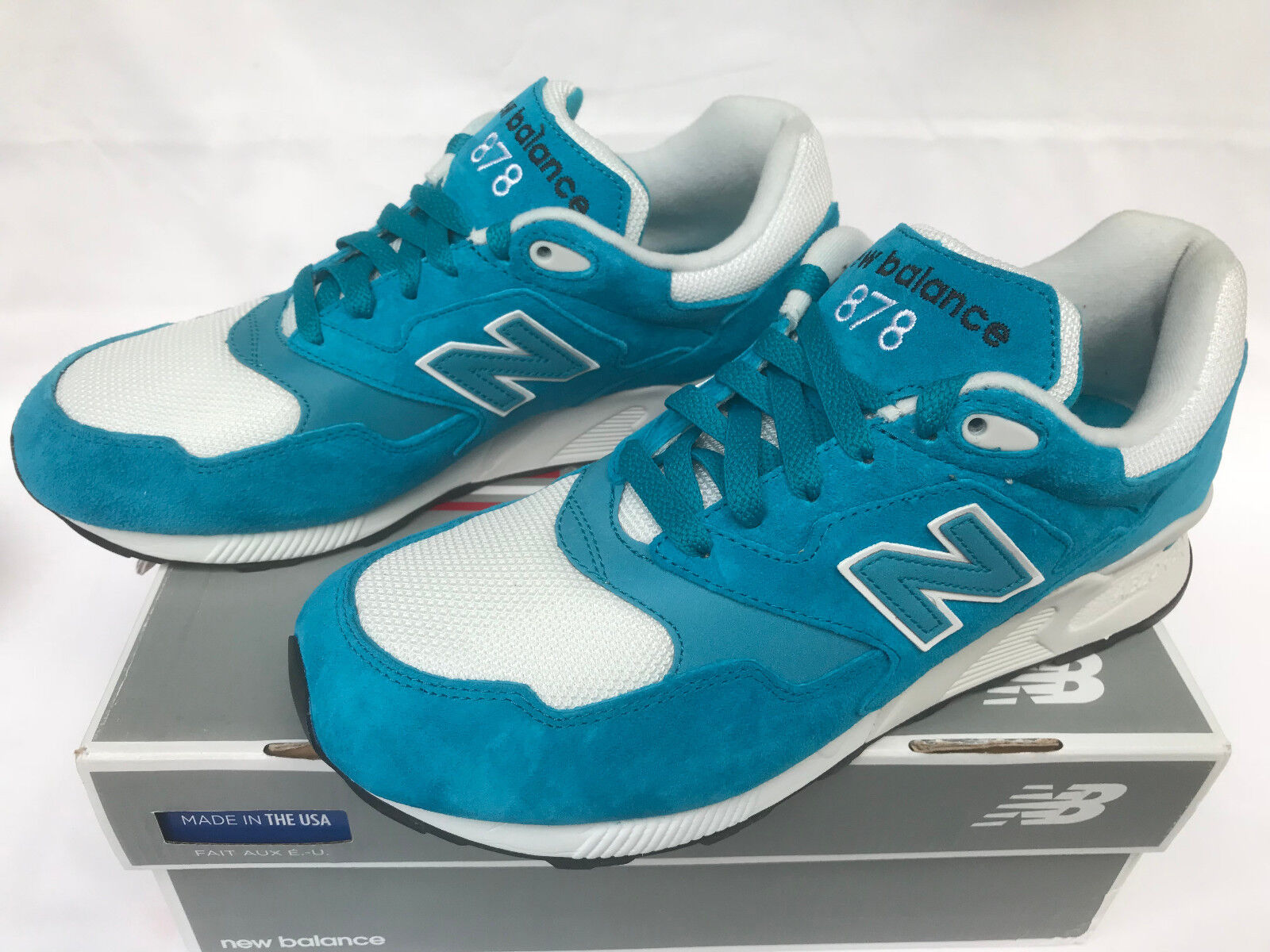 New Balance ML878RSB bluee Suede 878 Stability Marathon Running shoes Men's 9.5 D