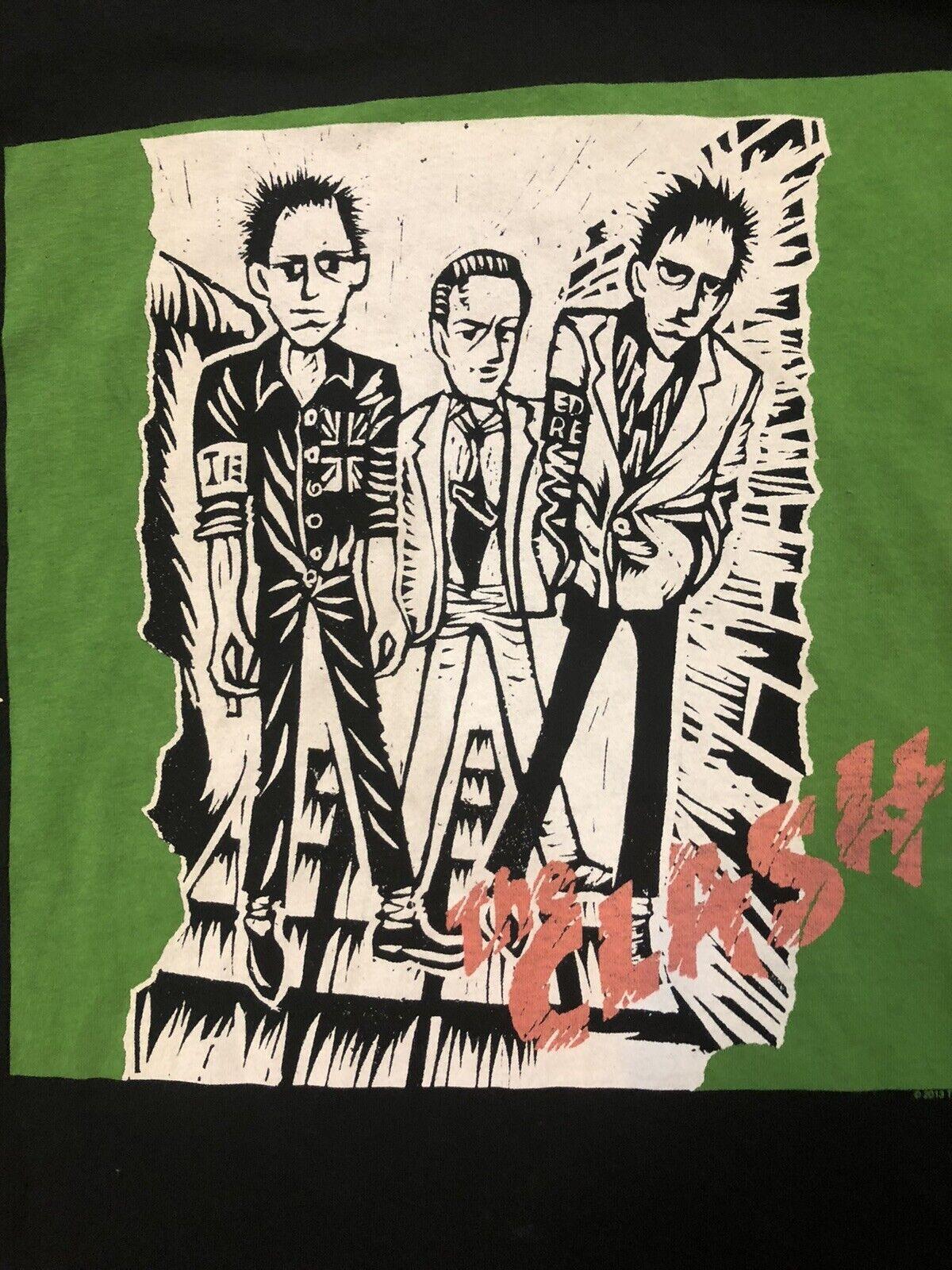 The Clash Concert Tour Rock Band T Shirt Black 20… - image 2