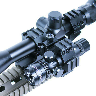 Tactical 6-24x50 AOEG Illuminated Optical Rifle Scope Green Laser Sight Mount