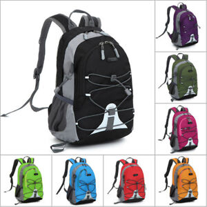 US-Children-Men-Women-Travel-Sports-Shoulder-Backpack-Hiking-Rucksack-School-Bag