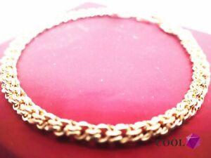 18-Karat-Gelbgold-GF-massiv-4-mm-Crub-Chain-Armband-7-039-18-cm