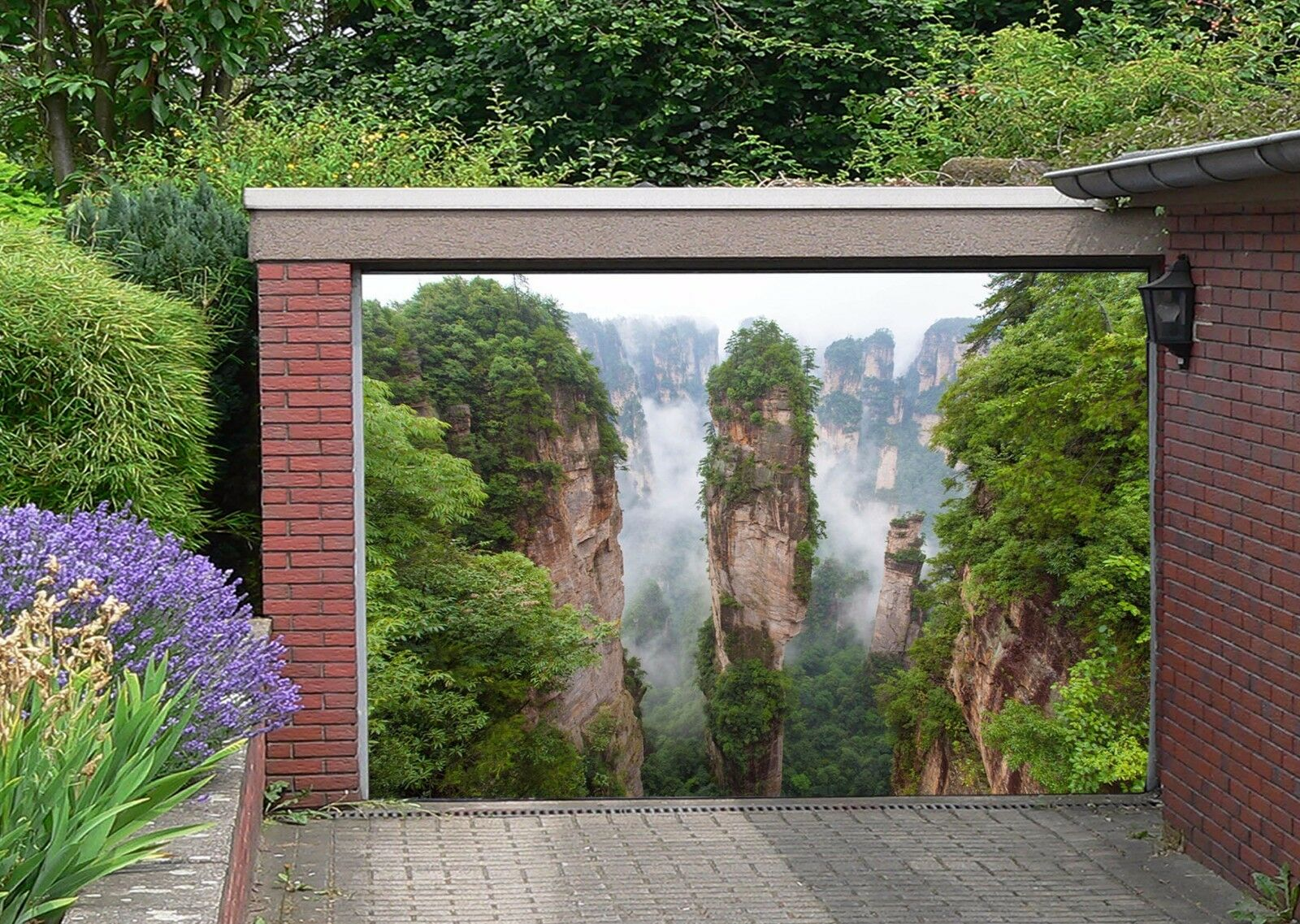 3D Clouds Hills 6 Garage Door Murals Wall Print Decal Wall AJ WALLPAPER AU Lemon