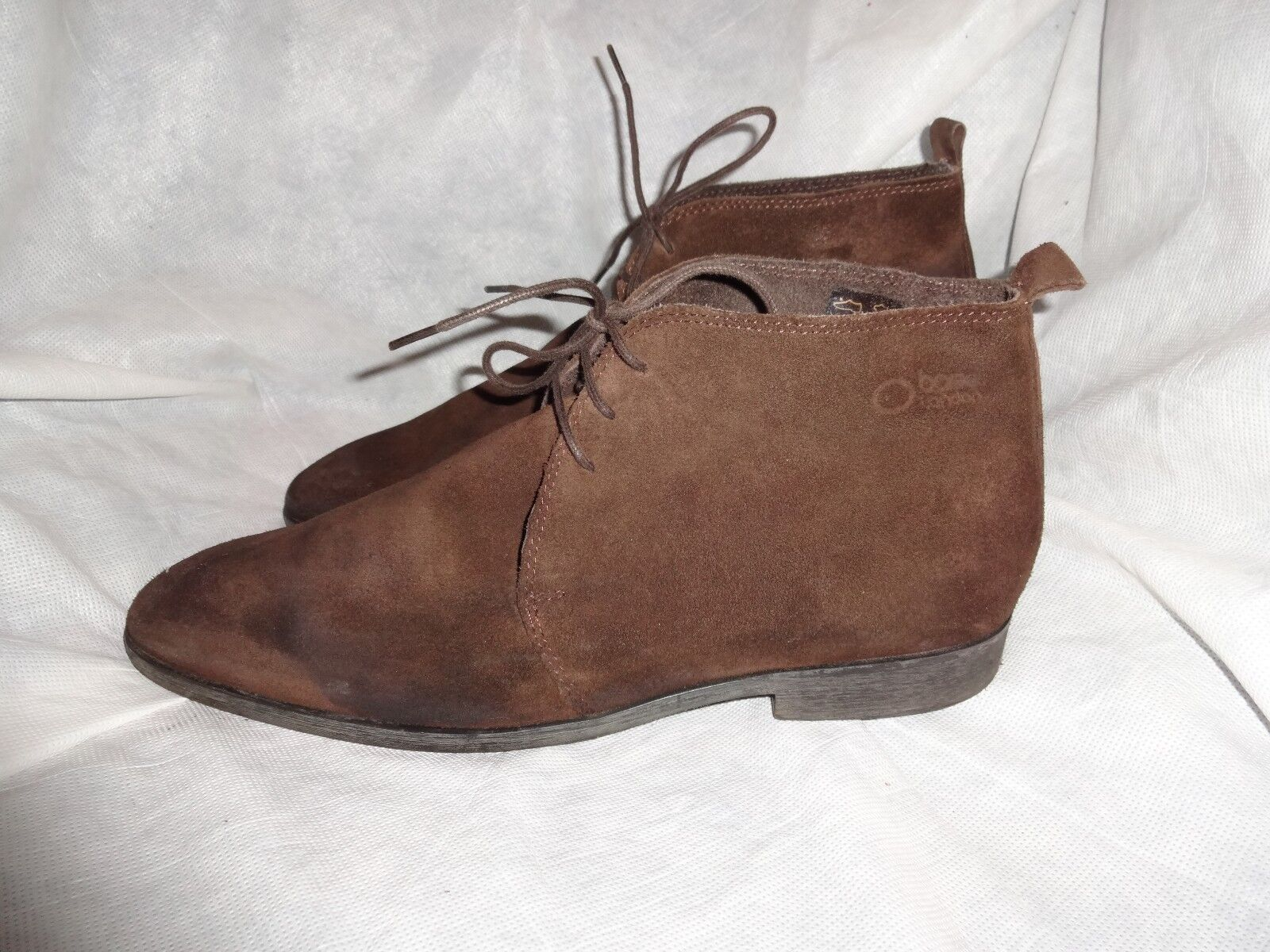 BASE LONDON MEN BROWN SUEDE LEATHER LACE UP BOOT SIZE UK 9 EU 43 VGC