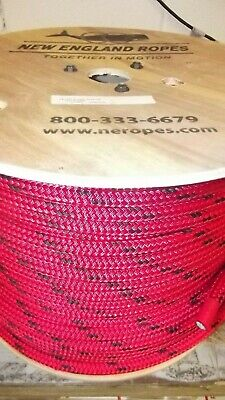 "ANCHOR ROPE DOCK LINE 1//4/"" X 350/' BRAIDED 100/% NYLON RED MADE IN USA"