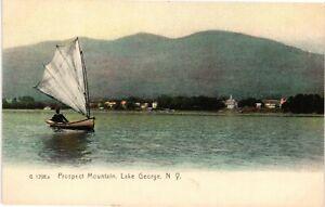 Vintage Postcard - Prospect Mountain Sailboat Lake George New York NY #4228