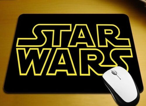Original Movie Theme Star Wars Logo Title anti-slip PC gaming mouse mat pad