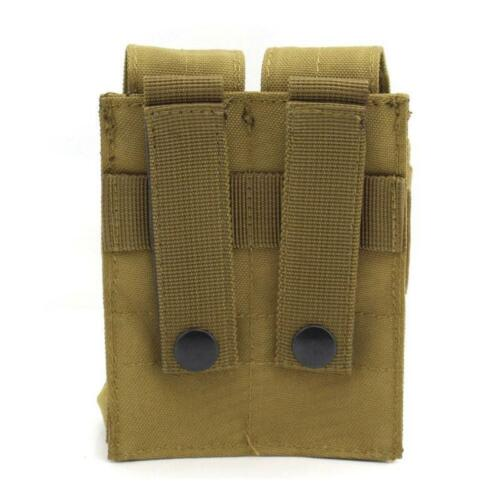Molle Clip Double Magazine Pouch Bag Pistol Mag Pouch For USUG 30 RD Pistol