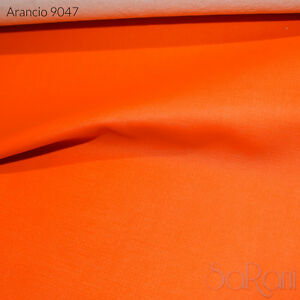 Tissu-En-Faux-Cuir-Semi-lustre-a-rayures-1-2-metre-cuir-Tapisserie-Orange-Sofa