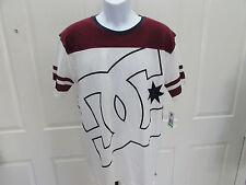 NEW w/Tag-Men's White/Burgandy DC Shirt Sz L