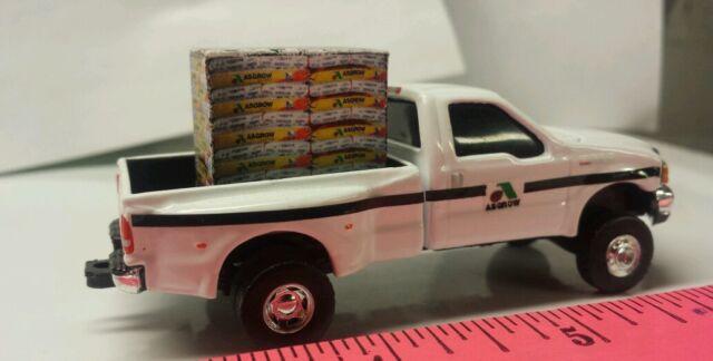 1//64 CUSTOM Ford f350 pioneer hybrids dealer TRUCK WITH probox of seed ERTL