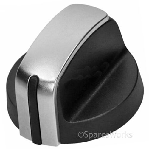 Hotpoint-Ariston Gaz Brûleur à Flamme Plaque Interrupteur Bouton Argent//Noir Pack de 5 potentiomètres