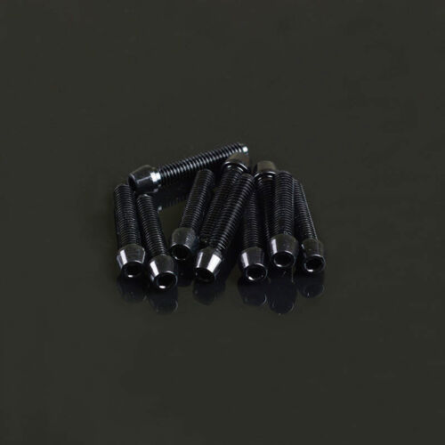 10 Stück Aluminium Schrauben 7075er M4x20 3mm Innensechskant Aluschraube schwarz