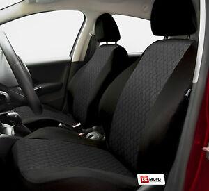 Universal Seat covers full set fits Peugeot 206 black/grey | eBay