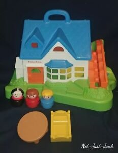 Details About 1990s Fisher Price Little People House Vary Clean Excellent Cond Childs Toy