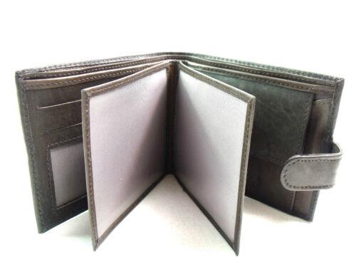 Da Uomo Alta Qualità Lusso Super Soft Marrone Scuro in Pelle Portafoglio Porta carte di credito