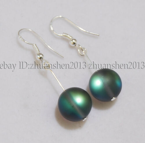 6//8//10//12mm Gray Gleamy RAINBOW MOONSTONE Perles Rondes Collier Bracelet Boucles d/'oreilles