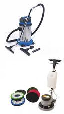Grundreinigungsset Einscheibenmaschine & Industriestaubsauger Wassersauger Paket