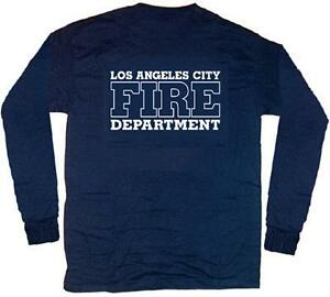 Los Angeles City Fire Dept T Shirt M Long Sleeves Ebay