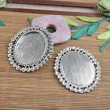 2pcs Tibetan Silver 57x49mm Rim CABOCHON Settings Findings H3990