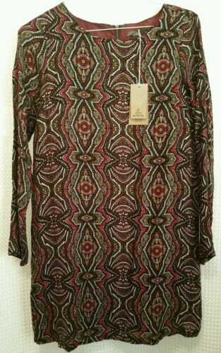 prAna Cece Lined Dress Paisley Mahogany Color New With Tags!